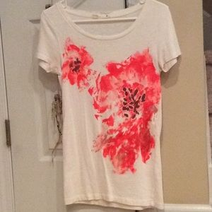 J.Crew Abstract Floral Tee